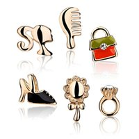 Wholesale Kalome Pandora jewelry box jewelry female Korean fashion cute couple six piece earrings earrings