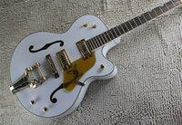 white falcon - Korean Tuners New Style Factory Custom White Falcon Semi Hollow Body Jazz Electric Guitar With Tremolo