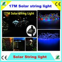 Wholesale 17M LED Solar String RGB Blue Garland Light waterproof Outdoor automatic Garden Xmas Christmas Party Wedding Decoration Fairy Lamp