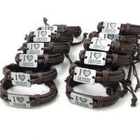 agates prices - Price set I Love Jesus Bracelet Genuine Leather Biker Leather Cross Jesus Bracelet