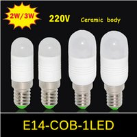 ac mini fridge - NEW MINI E14 Ceramic Body Chandeliers AC V V LED lamp W W COB Bulb Candle light Use Fridge Refrigerator Freezer