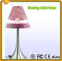 metal table base - high quality METAL base lamp with fabric lampshade Magnetic floating table desk lamp for home