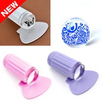 Wholesale 2pcs set Clear Jelly Stamper Nail Art Stamper Clear Silicone Marshmallow Nail Stamper Scraper Stamp Tools
