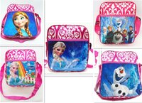 Wholesale Children Cartoons Messager Bags Frozen Insulated Lunch Bags Princess Elsa Handbags Kids Single Shoulder School Bags Gift Styles For Sale