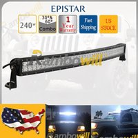 4wd parts - 42 inch quot W Curved EPISTAR Led Work Light Bar Spot Flood Combo Beam Fit Car Truck SUV Offroad Driving Lamp Boat WD ATV X4 Auto Part