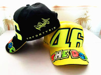 Wholesale Men MOTOGP VR46 Racing Cap The Doctor Motorcycle Race Caps Sports Baseball Cap Cotton Sun Visors Black Yellow