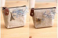 Wholesale Hot Sales Canvas Women Girl Cute Zipper Coin Bag Purse Wallet Key Card Case Pouch Mini Handbag