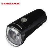 Cheap TRELOCK Professional German Handlebar Flashlight Warning Flash Lamp Bicycle MTB Bike Cycling AA 1.5V Battery Head light Headlamp