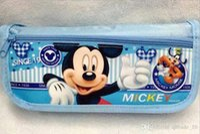 Wholesale SpongBob Snow White Cinderella KT Mickey Minnie Frozen Elsa Anna Spiderman Ben Cartoon boxes pencil case storage box LJJH114
