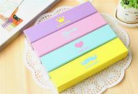 Wholesale 50pcs Colorful pencil box Recycled Paper Bag pencil case
