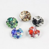 Wholesale newest NOOSA Crystal Replaceable Buttons Ginger Snap alloy Jewelry Interchangeable Jewelry Accessory noosa buttons mm xmas gift E240J