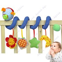 round beds - Baby educational Cute Music Multifunction Toy Kid Crib Round the Bed Hanging Star Moon Toys Blue SV009422