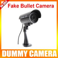 Wholesale Fake Camera Dummy Emulational Camera CCTV Camera Bullet Waterproof Outdoor Use For Home Security With Flash LED