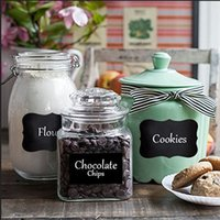 chalk a-board - 32Pcs Set Chalkboard Blackboard Chalk Board Stickers Craft Kitchen Jar Labels A