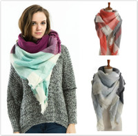 Wholesale New Hot Lady Blanket soft Plaid Cozy Checked Tartan Scarf Wrap shawl colors for choose