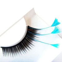 ballroom accessories - pair pack Exaggeration lake green feather ballroom dancing artificial false eyelashes fake eyelashes accessory