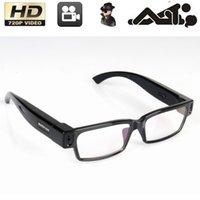 Wholesale HD P SPY Hidden Video Camera Eyewear Fashion Glass Mini DV DVR Camcorder