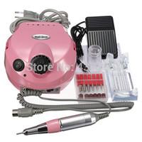 Wholesale Pro V Electric File Buffer Bits Machine Set Electric Nail Art Drill Manicure Pedicure Nails Tool set torno pedicura electric