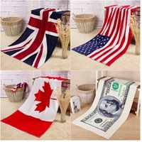 Wholesale New flag beach towel U S English Union Jack Canada Europe and the United States Dollar towels RN305