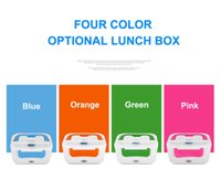 Wholesale 2015 Portable Electric Heat Heating Food Container Meal Heater Lunch Box Tableware Dinner Bucket with Spoon V V
