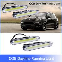 auto led drl - 2pcs Waterproof W K K COB LED Lights DRL Daytime Running Light Auto Lamp For Universal Car