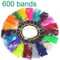 Wholesale 6bags Package Rubber Loom Band Set Candy Colorful Loom Bands Children DIY Bracelet Opp Bag LB
