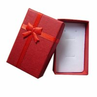 Ring / Earring / Pendant paper display - Wholesales Red Color Cloud Paper Jewelry Box Display Box PB R