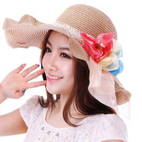 beach hat manufacturers - Sun Hat Straw Beach Headwear Cap Bohemia Wide Large Brim Manufacturers hat Miss Xia Tian seaside Korean hat large brimmed hat fo
