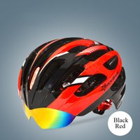 bicycle helmet unique - Hot Cool Road Bike Bicycle Cycling Helmet Sport Capacete EPS PC Material Mountain bike Helmet Unique Goggles Design