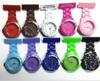 Wholesale LJJD3570 Doctor watch New Silicone Candy Color Medical Nurse Watch Round Fob Quartz Watch Doctor Watch pocket Watches