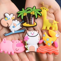 Wholesale NEW Fashion Cute Silicone Fridge Magnet Cartoon D Magnetic Stickers Attractive Home Décor Design