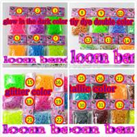 Cheap Loom Bands glitter glow in the dark metallic polka dot color DHL free shipping 300bags DIY bracelet kit Rubber loom Band Refills