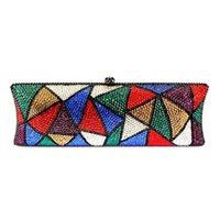 rhinestone handbags - Top Quality Rhinestone Evening Clutch Bags European Style Clutch Bags Ladies Chain Handbags Luxury Party Prom Purse B216