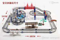 Wholesale children s toys Hot Wheels electric rail car train baby desktop multi long racing suits