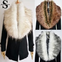 Wholesale 2015 New Womens Faux Fur Shawl Fashion Winter Warm Scarf Removable Coat Collars Christmas Gift CJE1004