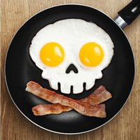 Wholesale Silicone Skull Fried Egg Mold Mould Poach Oven Pancake Egg Ring Shaper