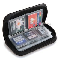 Wholesale Mini Slot SD SDHC MMC CF Micro SD Memory Card Protector Holder Storage Pouch Case Holder Wallet Portable Bag Box