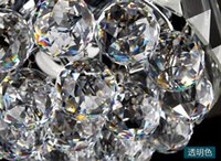 Wholesale 5 mm clear Chandelier Crystal Faceted Ball Prism Suncatcher Feng Shui Free Hooks And Shipping