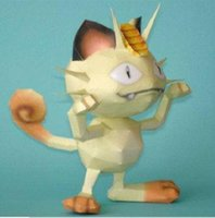 other > 3 years old movie & tv Pokemon Meow Rockets Construction Paper Crafts Paper Model
