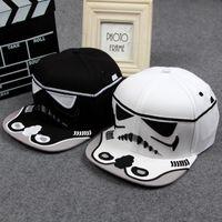 brand baseball cap - 2015 New arrival Fashion Brand Star Wars Snapback Caps Cool Strapback Letter Baseball Cap Hip hop Hats For Men Women E179