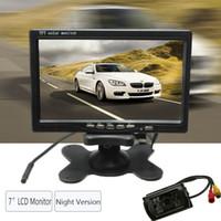 Wholesale car Wireless inch LCD Monitor LED IR Rearview Reversing Camera Night Version Kit