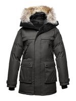Wholesale Black men Snow coats nobis YATESY Men s Long Parka Crosshatch winter coats Nobis YATESY men down coats