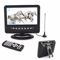 Wholesale 7 inch Portable LCD Analog TV Mini Monitor Digital Mobile TV FM MP3 USB Slot Car Reader SD MMC US EU plug