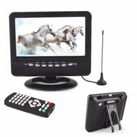 analog slot cars - 7 inch Portable LCD Analog TV Mini Monitor Digital Mobile TV FM MP3 USB Slot Car Reader SD MMC US EU plug