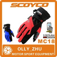 waterproof gloves - 2015 New Scoyco MC18 Motorcycle Gloves Winter Warm Waterproof Racing Accessories Windproof gloves sports gloves