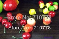 artificial fruit - estive Party Supplies Decorative Flowers Wreaths MINI Artificial fruit for restaurant home supermarket decoration fruit model props cher