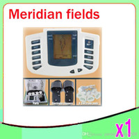 Wholesale DHL Low frequency massager meridian therapeutic apparatus digital meridian fields TENS digital pulse massager ZY LL