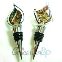 art glass wine stoppers - Great Value High Quality Colorful Art Deco Glass Wine Bottle Stoppers Mulit Styles Set of