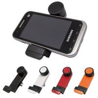al por mayor nota sostenedor de la salida del coche-Soporte universal del GPS del montaje del respiradero del aire del coche 360 grados que giran para el iPhone 6 más 5 5S Cargador de la galaxia S4 S5 S6 de Samsung NOTA 2 3 4 HTC M8 M9