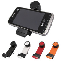 Wholesale Universal Car Air Vent Mount GPS Holder Degree Rotating for iPhone Plus S Samsung Galaxy S4 S5 S6 Edge NOTE HTC M8 M9